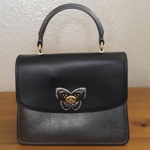 Coach Butterfly Turnlock Exotic Parker Top Handle
